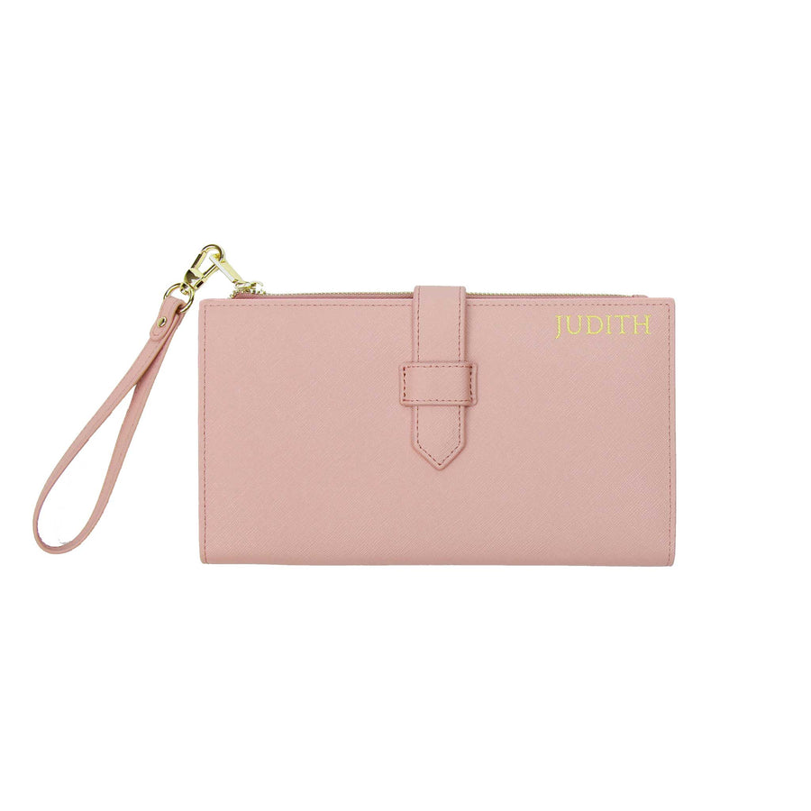 Nude Pink Travel Wallet with Strap | ANORAK