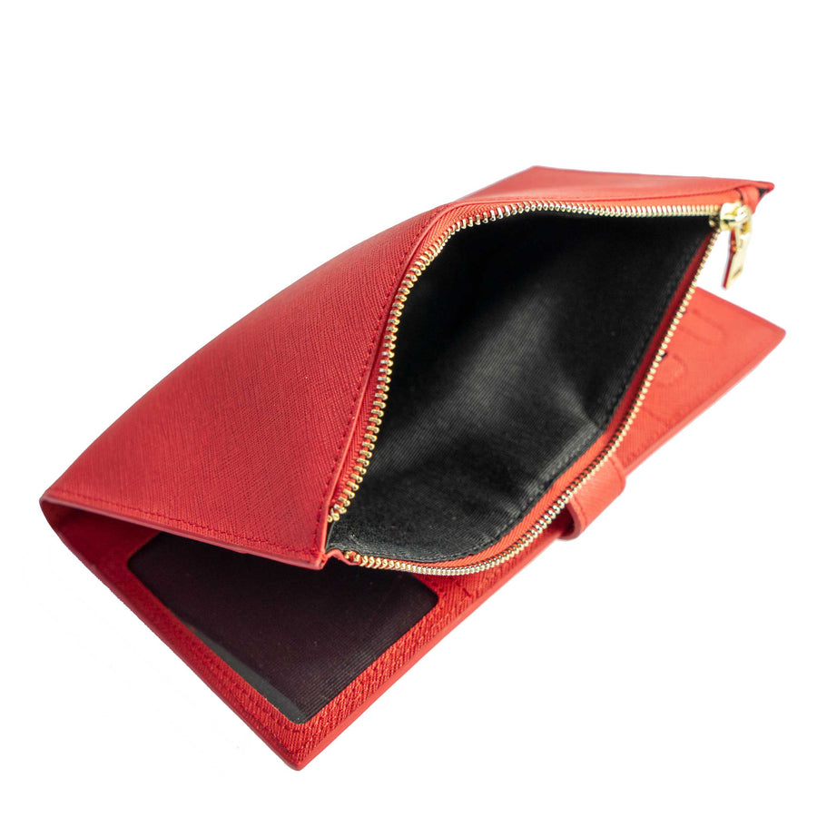 Red Travel Wallet with RFID protection
