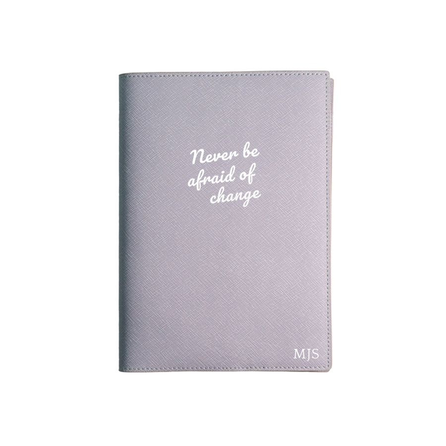 Purple Never Be Afraid Of Change Leather Cover Planner