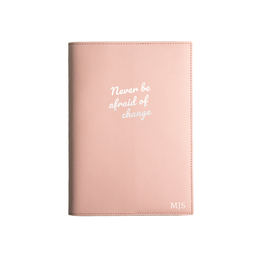 Nude Pink Never Be Afraid Of Change Leather Cover Planner