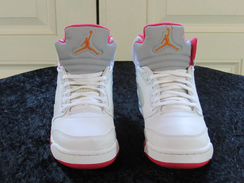 ee7cfe9255944e JORDAN Air Retro 5 (134092-161) GS White Fire   Red SIZE Y6