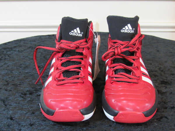 super popular d8ed2 6d189 ADIDAS Adipure Crazy Ghost Red Black White Youth Sneakers SIZE 1Y