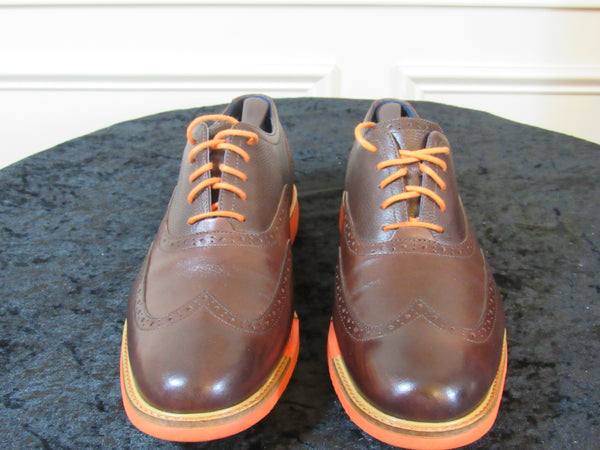 359b59cc0f COLE HAAN (C11235) Men s Casual Shoes  Lace-up Brown Leather Orange Sole