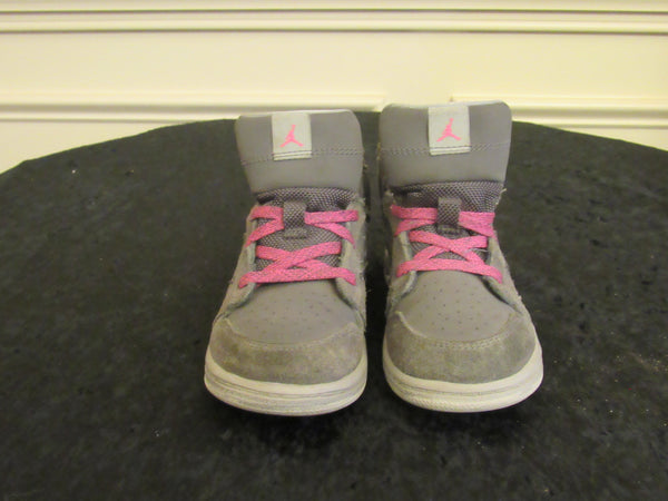 1eb6a5140c122f JORDAN 1 (844507-017) Gray   Pink Youth Toddler Sneakers SIZE 9 C ...