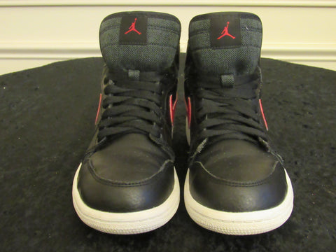 a783c3382fc2d8 Sold Out JORDAN 1 (705303-012) Black   Red Toddler Youth Sneakers SIZE 2Y