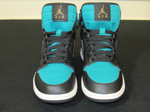 828d7ee3dd7365 Sold Out JORDAN 1 (332148-011) Turquoise   Black Youth Sneakers SIZE Y6