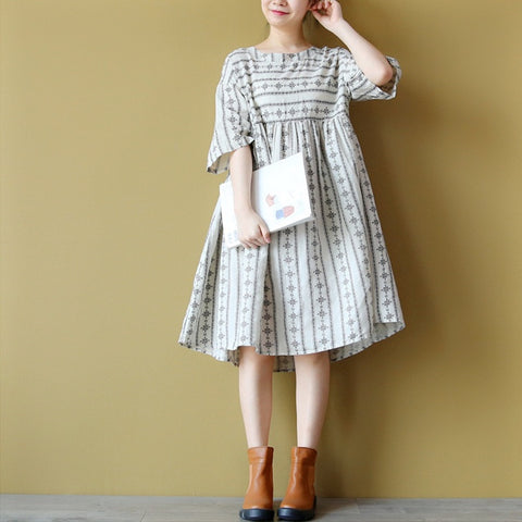 Florence folk print shift dress