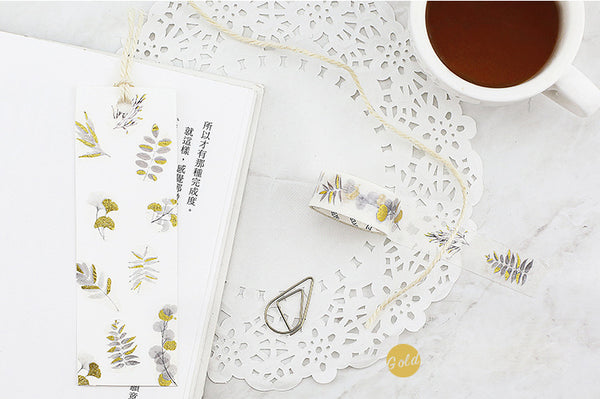 Gold line Masking Tape Scrapbooking Deco Stickers Stationery Journal Stickers