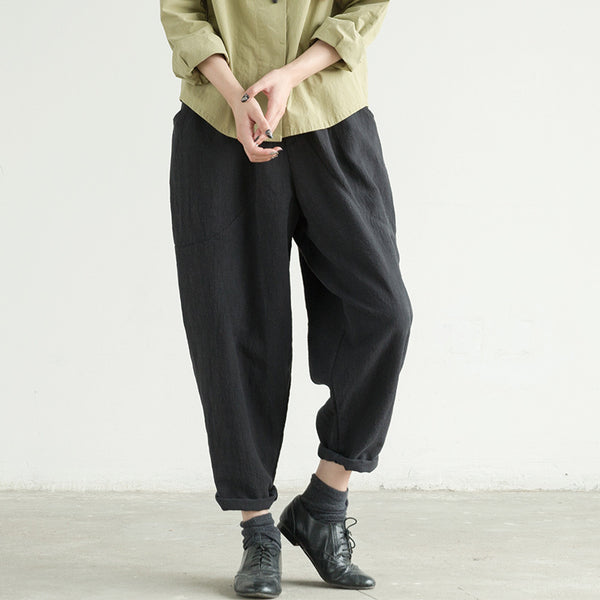 Joan casual pants low crotch Harlan pants