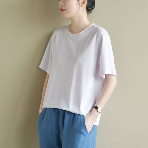 Jolly Knitted cotton classic white shirt