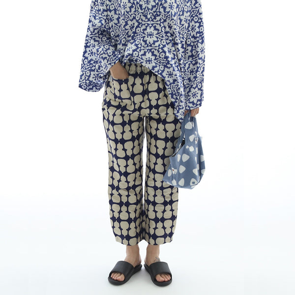 June organic cotton print turnip pants
