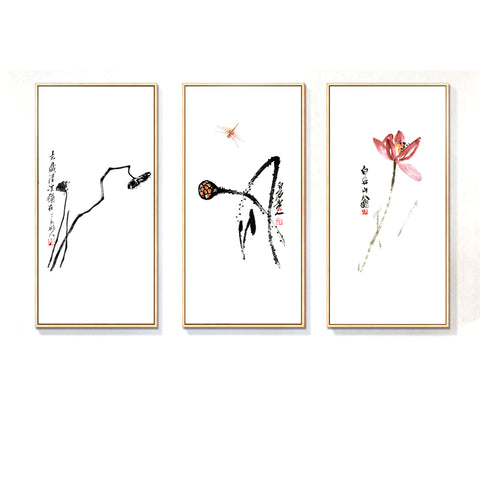 Lotus Lian Peng Chinese Paintings Print