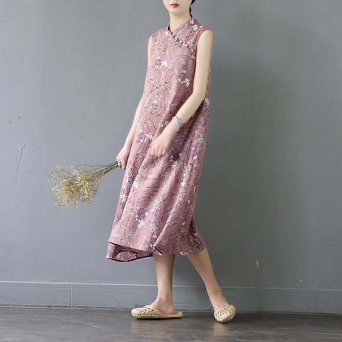 Manda Retro Chinese Style Linen dress
