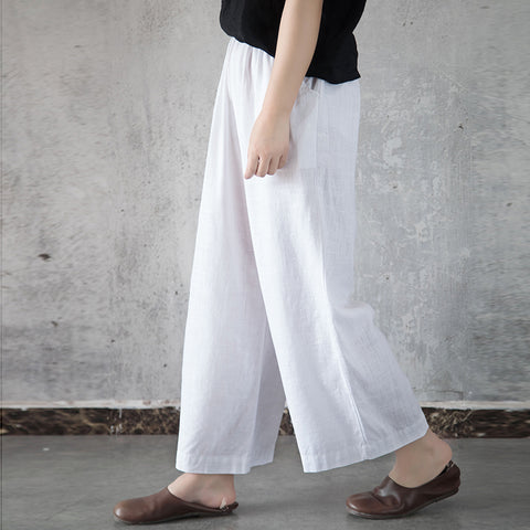 May women's linen pants wide leg pants
