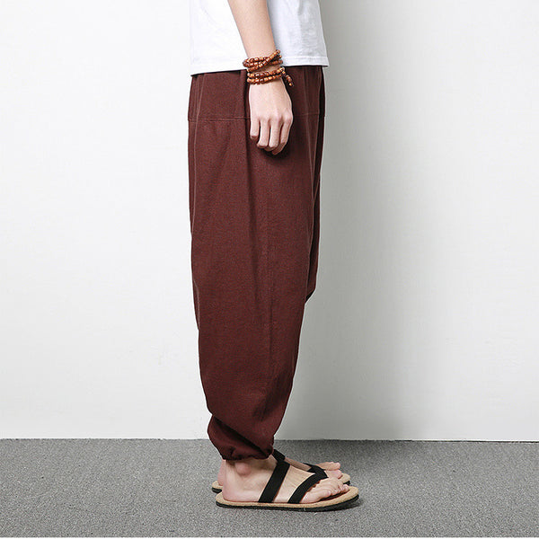 Men 's linen flamenco harem pants
