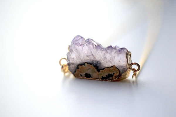 Lucky Purple Ghost Amethyst Pendant