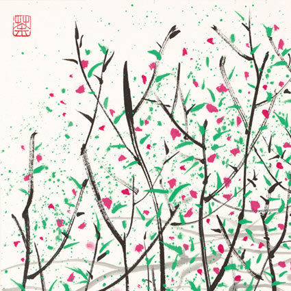 Spring buds Chinese Paintings Print