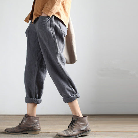 linen turnip pants