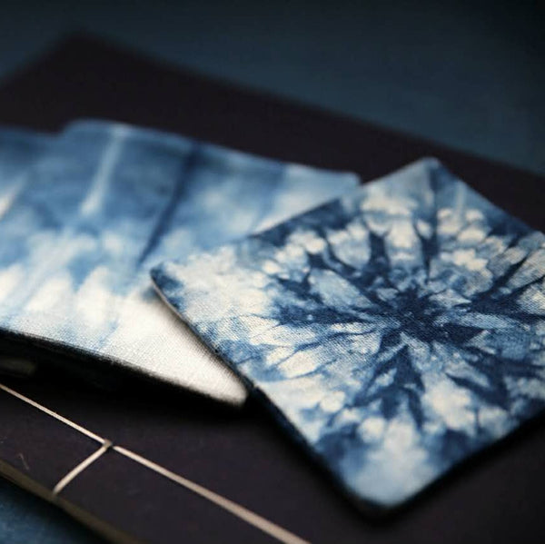 Hand-dyed cotton-dyed coasters
