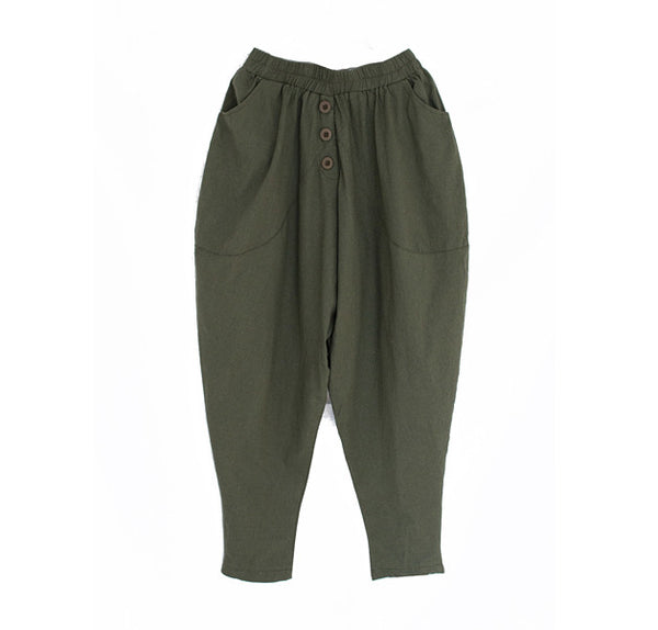 Culver linen boot army pants