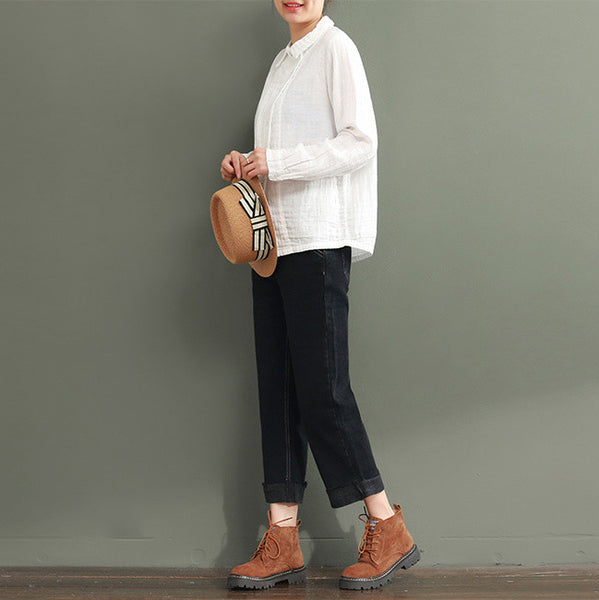 Relaxed fit white shirt