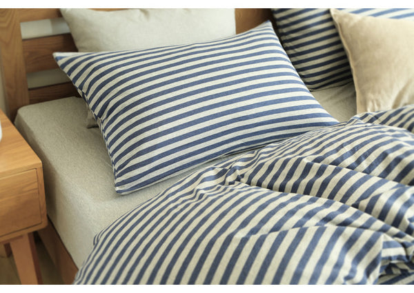 Sienna cotton bedding contracted stripe cotton fitted set sheet set