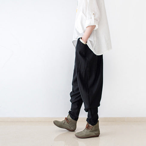 Culver linen boot black pants