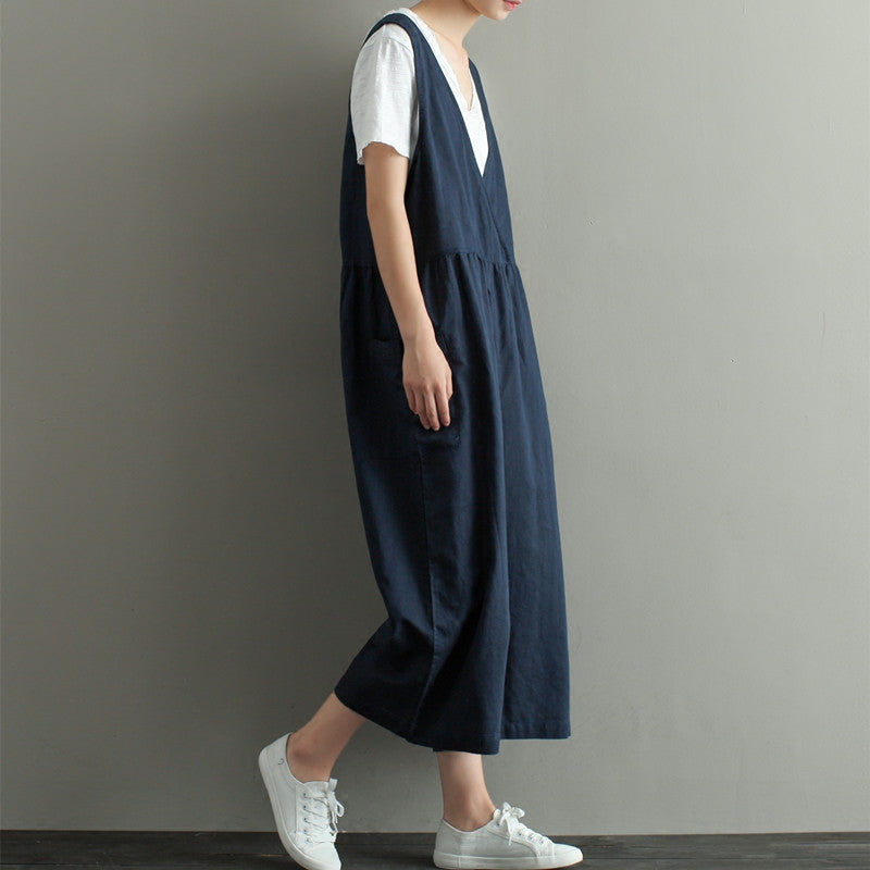 loose linen overalls
