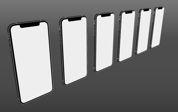 iPhone X Devices 3D Model For Showing Sketch Kit Pack