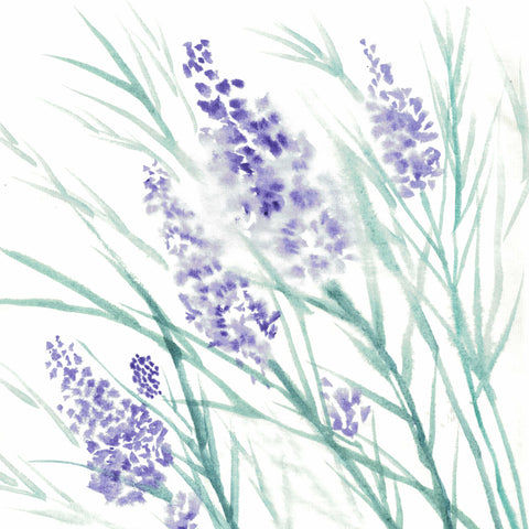 Lavender water  ink painting