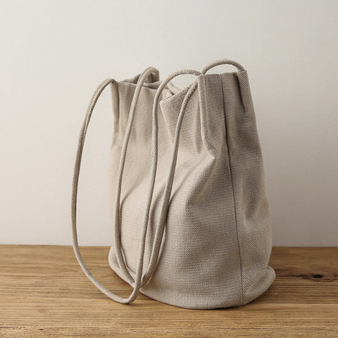 Canvas handbag bucket bag