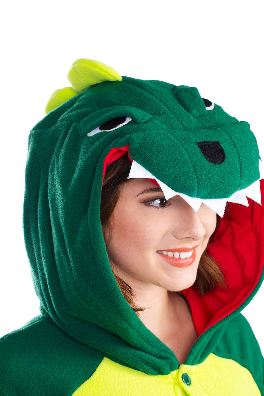 Adult Onesie - Dinosaur - Green