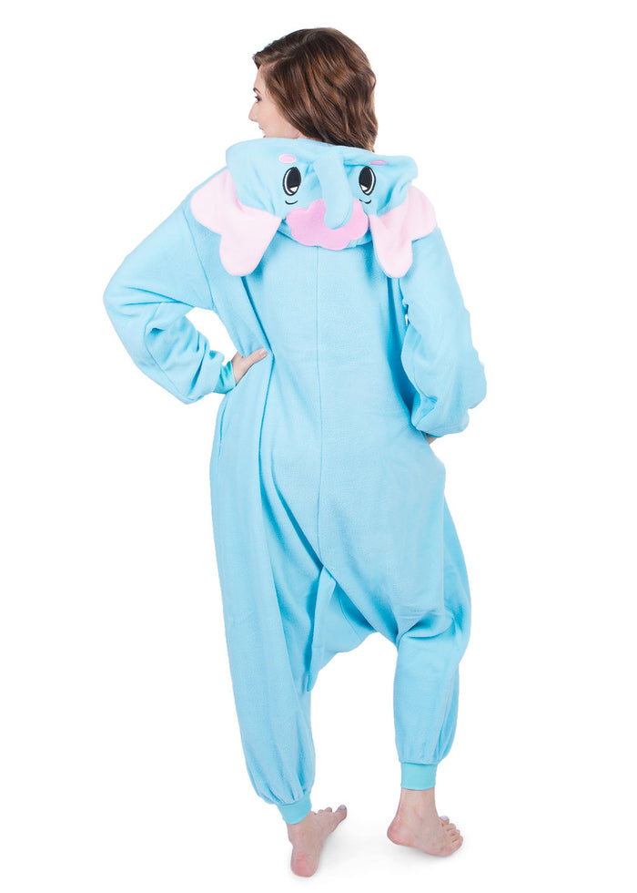 Adult Onesie - Elephant - Blue