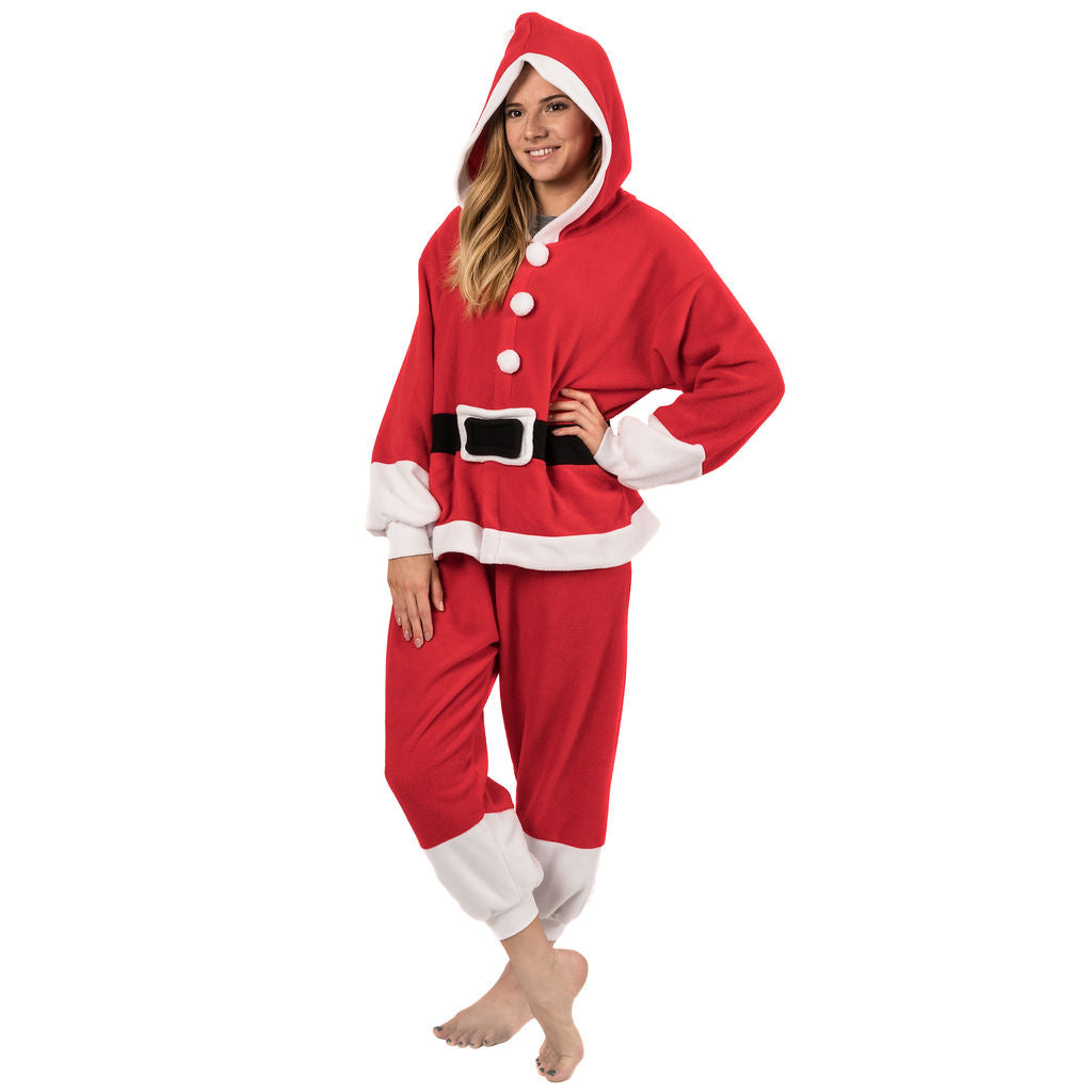 Emolly Fashion Adult Santa Onesie Costume Pajamas for Adults and Teens