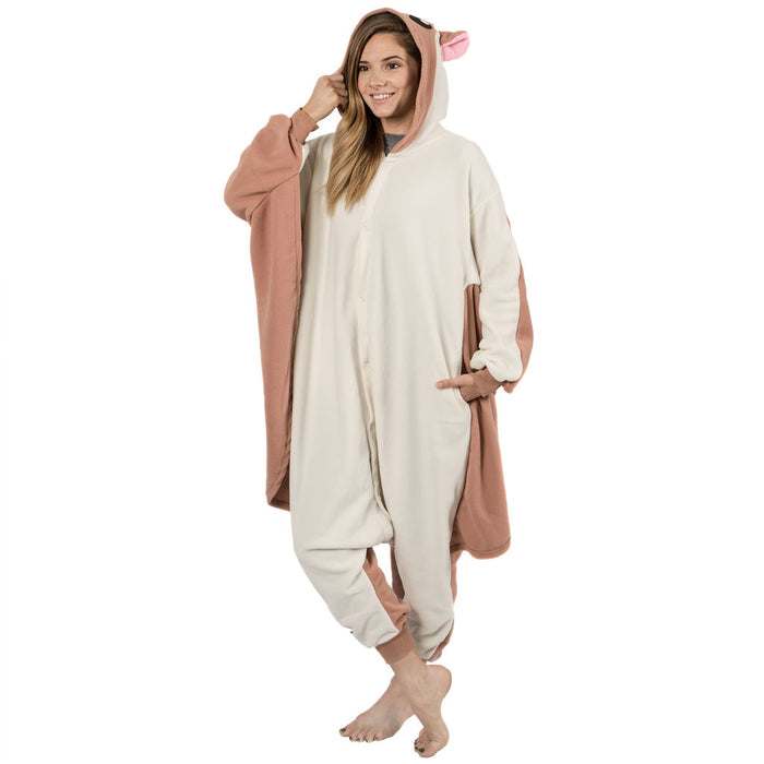 Emolly Fashion Adult Flying Squirrel Onesie Costume Pajamas for Adults and Teens