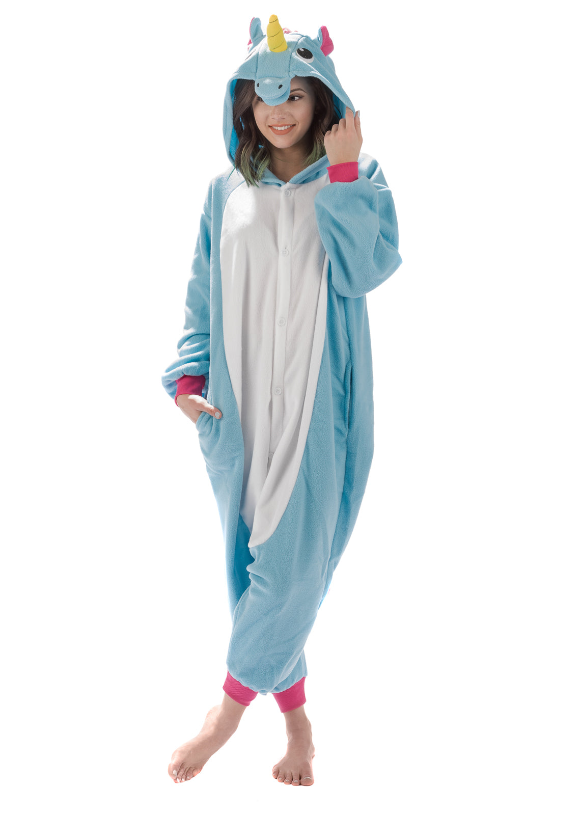 Adult Onesie - Unicorn - Blue