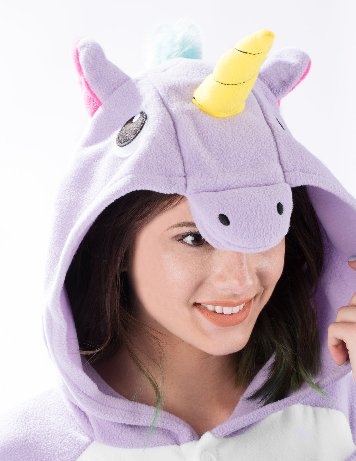 Adult Onesie - Unicorn - Purple