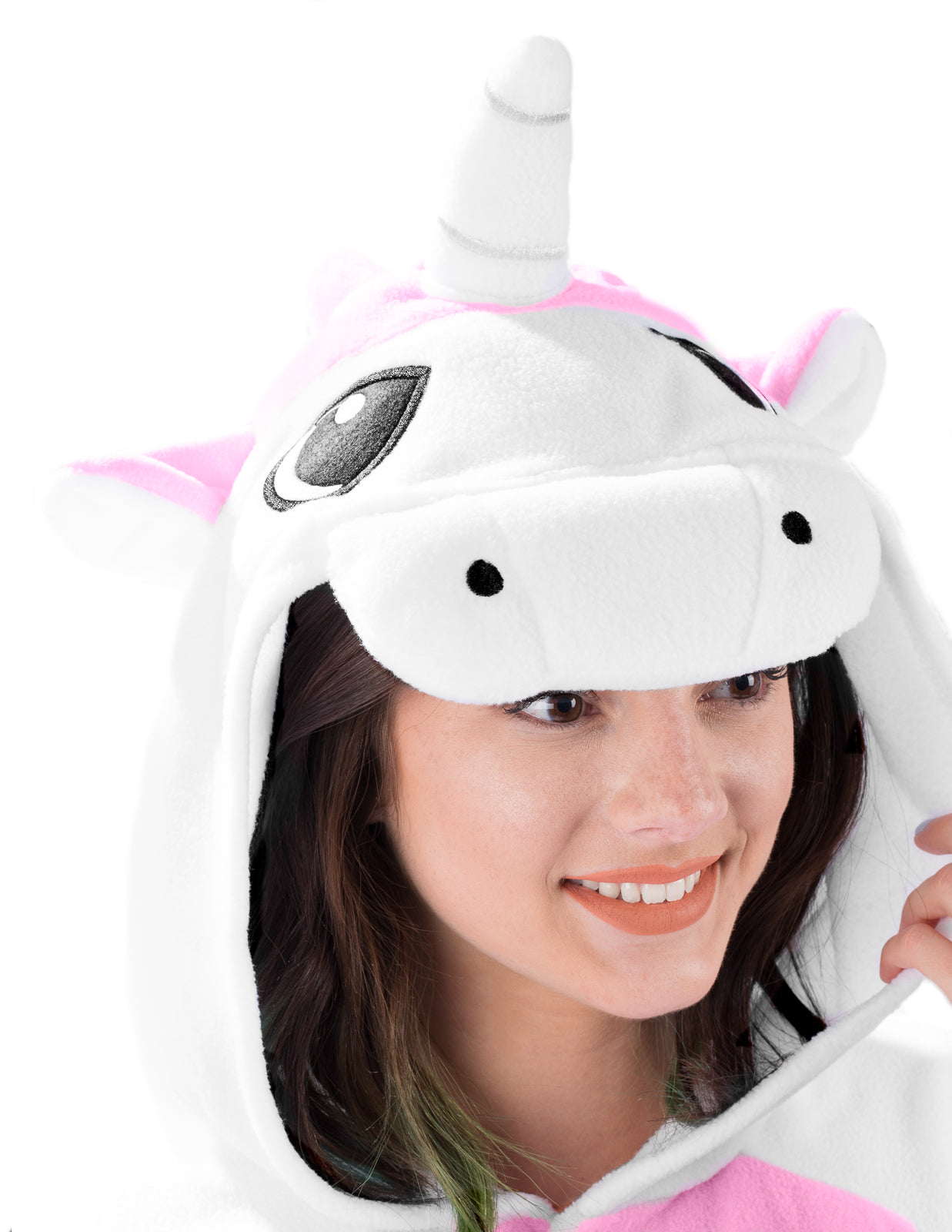 Adult Onesie - Unicorn - Pink - White