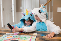 Kids Onesie - Unicorn - Blue - White