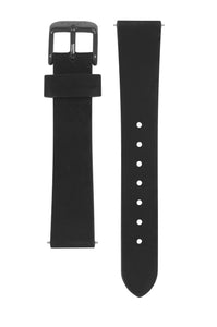 Black Leather Strap - 16mm