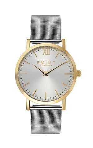 Knightsbridge Gold, Silver Mesh (Sunray Dial Edition)