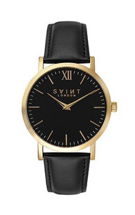 Belgravia Gold, Black Leather