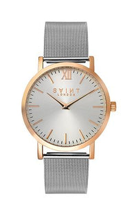 Chelsea Rose Gold, Silver Mesh (Sunray Dial Edition)