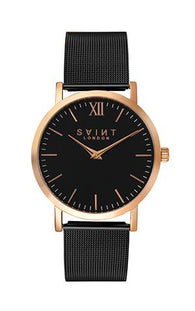 Fitzrovia Rose Gold, Black Mesh