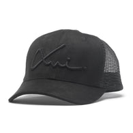 Black Suede XVI Signature Trucker