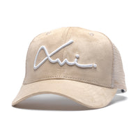 Cream Suede XVI Signature Trucker