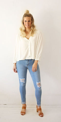 Celia top - white