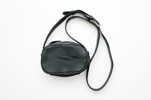 Anja leather bag - black