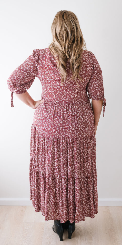 Aubrey dress - burgundy