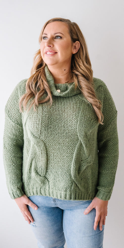 Delta knit - fern green